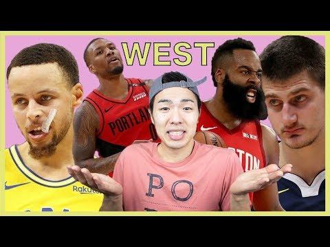 【NBA】西のプレイオフマッチアップ(1回戦)について語る