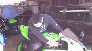 Revving The 2008 Kawasaki Ninja ZX6R Engine Sound. Sportbike Motorcycle VLOG