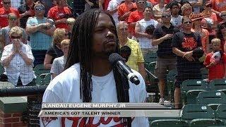 TB@BAL: Landau Eugene Murphy Jr. sings the anthem