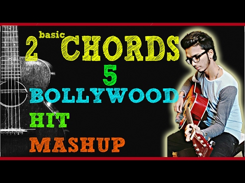 Learn and Play 5 Bollywood songs on Guitar with  2 Chord Progression! Beginners Tutorial In (Hindi)