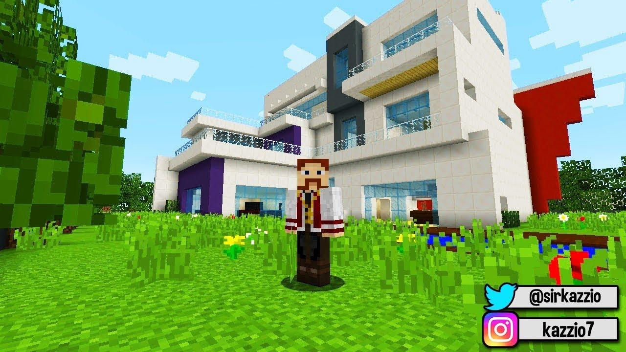 A Casa Dos Youtubers No Minecraft Está Igual Youtube