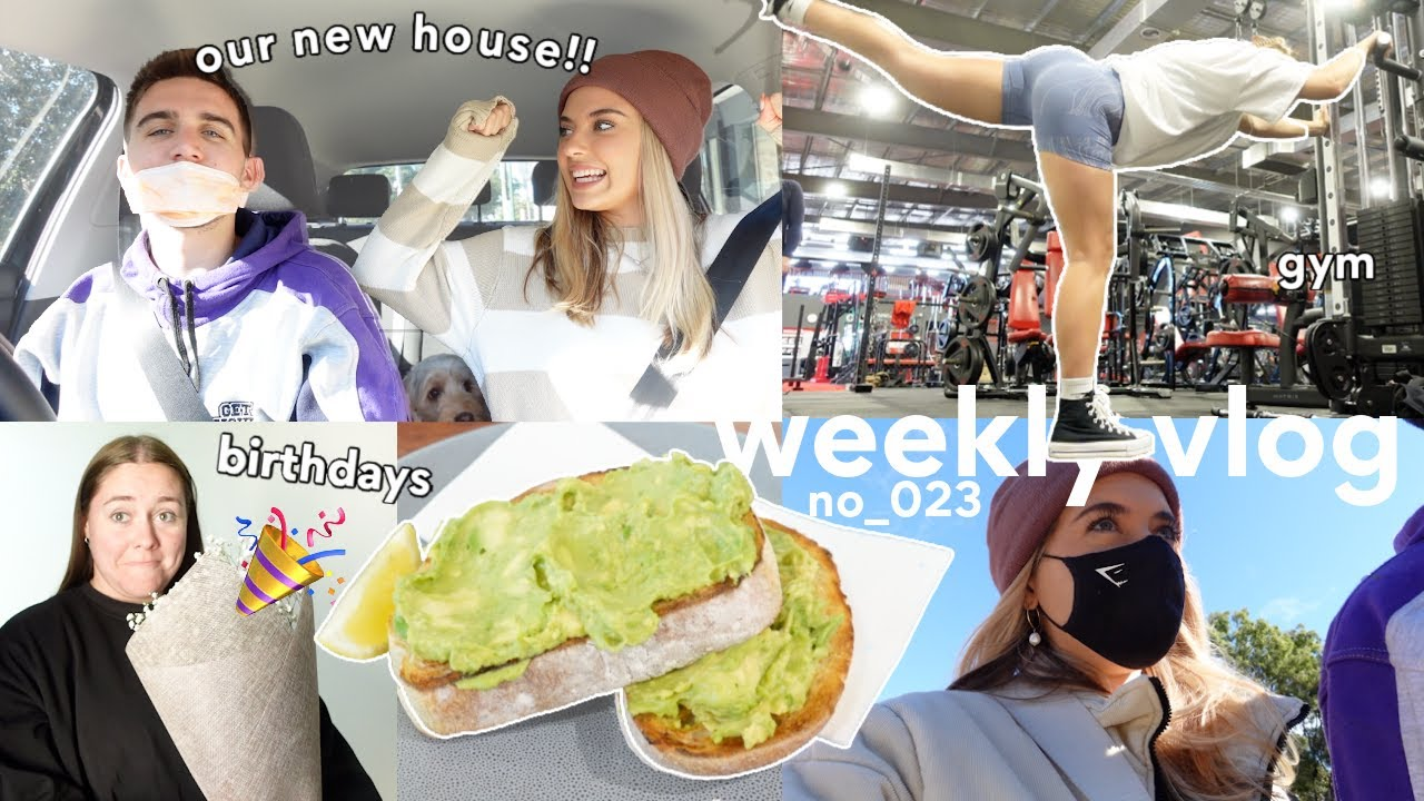 [WEEKLY VLOG] First time seeing our new house (!!), birthdays & gym