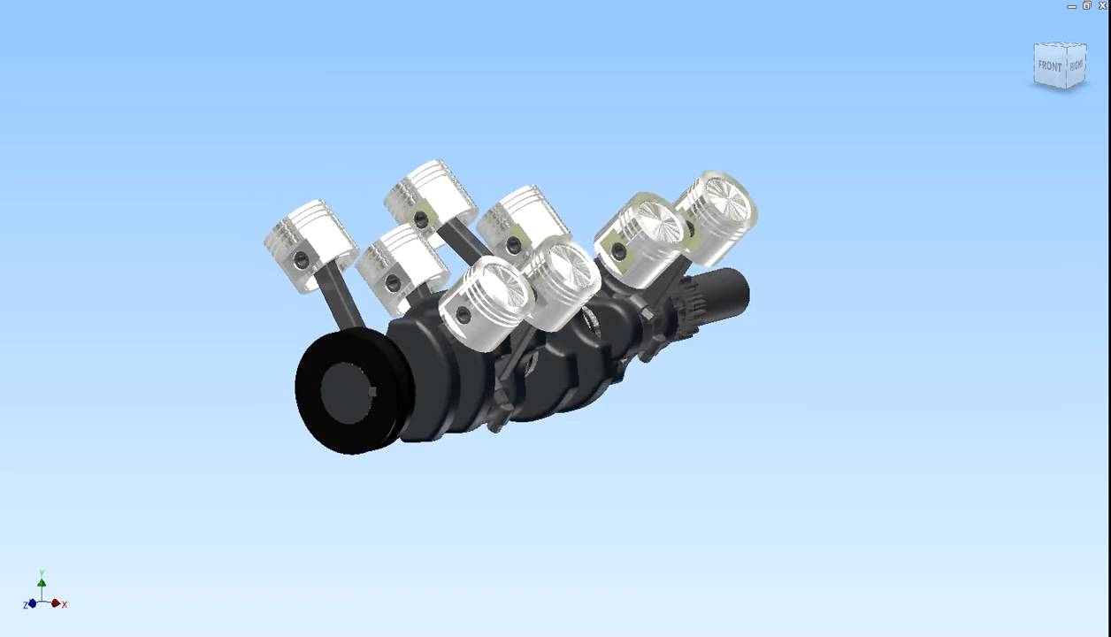 v8 crankshaft and piston animation.avi - youtube  youtube