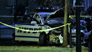 Police Car Collision w/ Pedestrian
