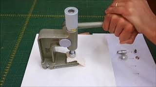 Como aplicar botão de pressão – modelo Eberle