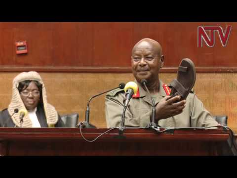 President Museveni's lighter moments during budget reading