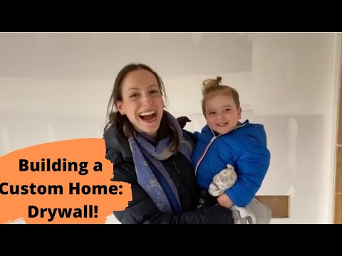 Building a House: Construction Steps – Drywall Installation & Closing up the Walls!