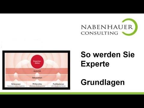 Expertenstatus -  So werden Sie zum Experten! - Grundlagen Seminar von Robert Nabenhauer