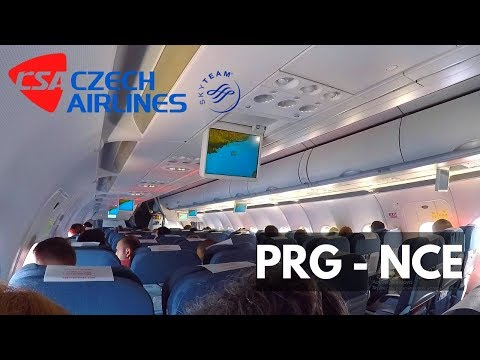 FLIGHT REPORT | CSA A319 (economy) | PRAGUE - NICE