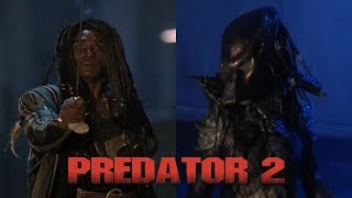 Predator 2 scene stars: kevin peter hall, calvin lockhart, danny glover director: stephen hopkins writers: jim thomas, john thomas music: alan silvestri ...