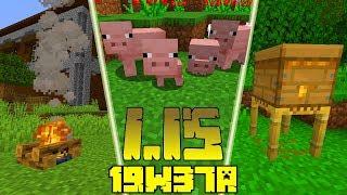 Minecraft 1.15: [Snapshot 19w37a] Co Nowego? Naturalne Małe Zwierzęta! Zmiany w Ogniskach!