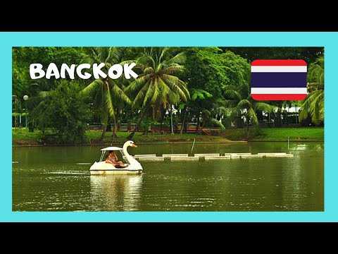 BANGKOK, the beautiful Lumpini Park in the center of the city (Thailand)