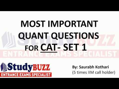 Important quant questions for CAT/MBA