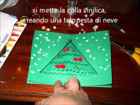Biglietto pop up albero di natale youtube for Lavoretti di natale maestra mary