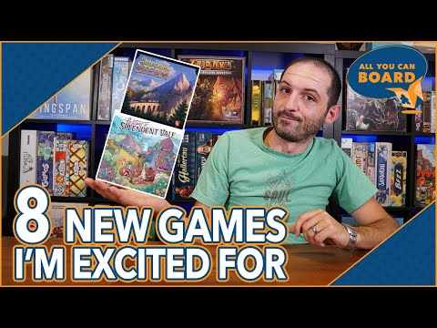 8 NEW BOARD GAMES I'm Excited For | Soul Raiders, Imperial Steam, Free Ride (+ MORE!)
