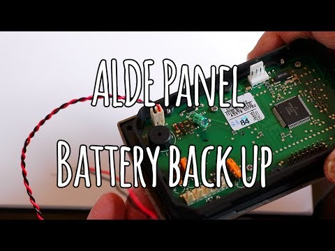 Alde control panel Battery Backup