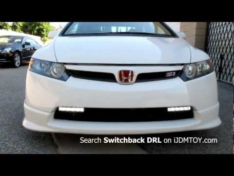Honda Civic Switchback White/Amber LED Daytime Running Lights