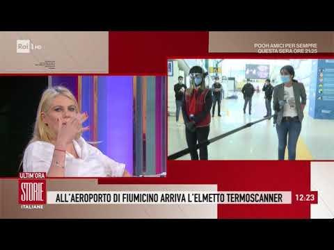Fase 2: all'aeroporto di Fiumicino arriva l'elmetto termoscanner - Storie italiane 05/05/2020