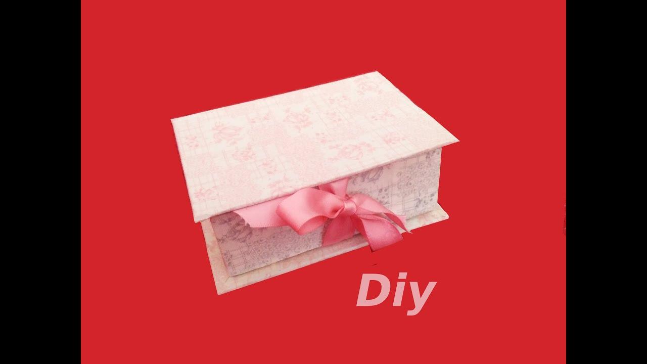 Caja Organizador Forma De Libro Diy Cartonaje