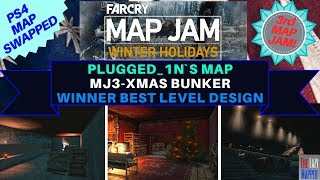 Far Cry Map Jam 3 Winter Holidays MJ3-Xmas Bunker By Plugged_1n won level design on PS 4
