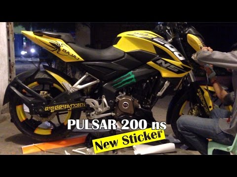 pulsar 200 ns - How to Full Wrap Sticker bajaj pulsar and Stamp in KS Sticker