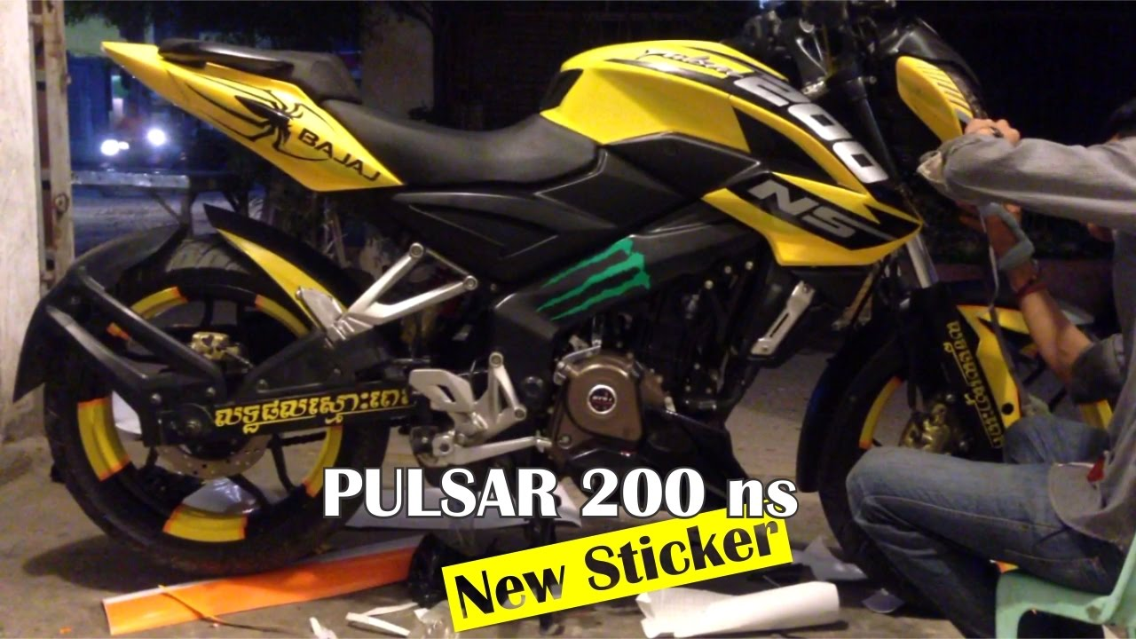 Pulsar 200 ns how to full wrap sticker bajaj pulsar and stamp in ks sticker
