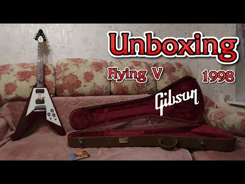 1998 Gibson  Flying V 67 - unboxing and checking