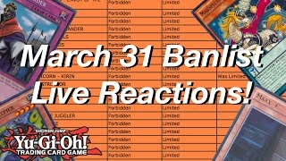 Yu-Gi-Oh! Official March 31, 2017 TCG Banlist LIVE Reactions!