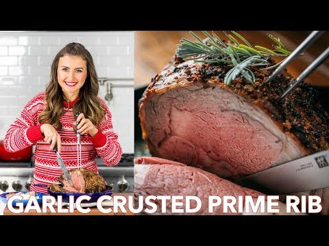Garlic Crusted Prime Beef Rib Roast Recipe - Natasha's Kitchen