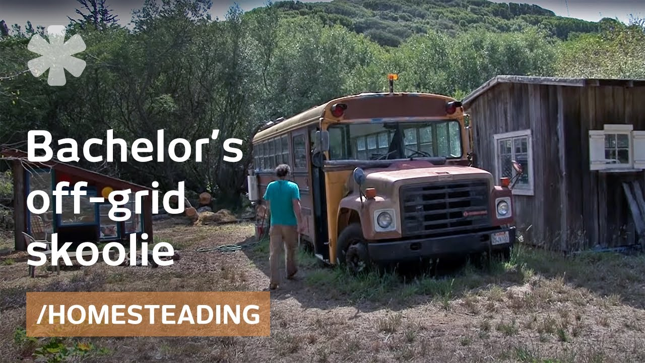 School bus renovated as bachelor 39 s off grid tiny home for How to get your house renovated for free