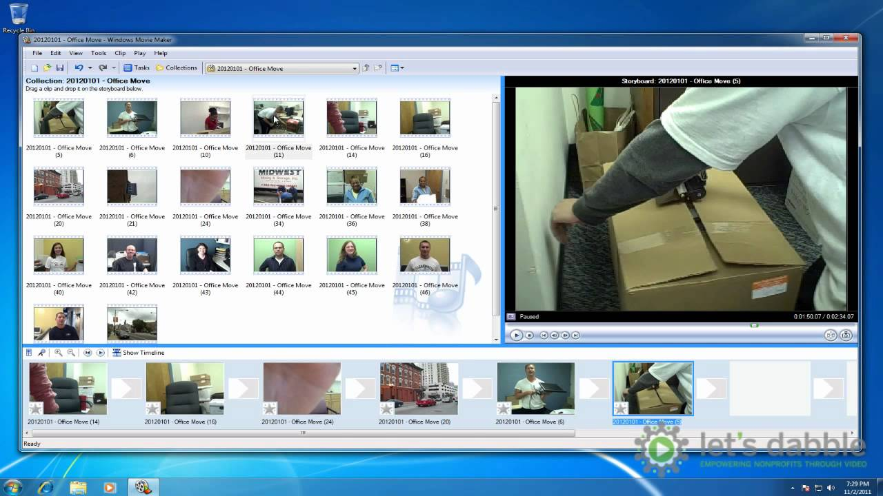 Arranging Files On Storyboard In Windows Movie Maker Youtube