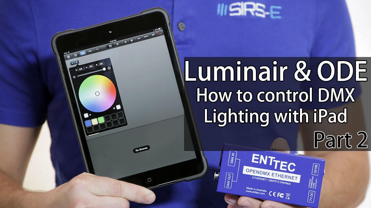control lighting with iphone. Luminair \u0026 ODE: DMX Lighting With IPhone IPad How-To Part 2 Control Iphone