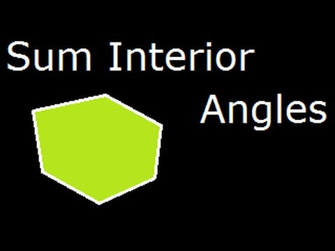 Sum of Interior or Internal  angles of a polygon : Derivation of a Formula