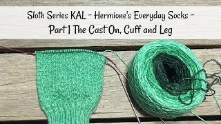 Sloth Series KAL -Hermione's Everyday Socks - The Cast On, Cuff & Leg