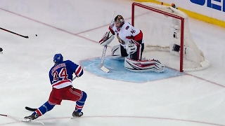 Oscar Lindberg rifled a shot past Craig Anderson to get the Rangers...