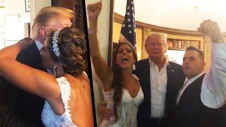Couple Thrilled When President Trump Crashes Their Wedding