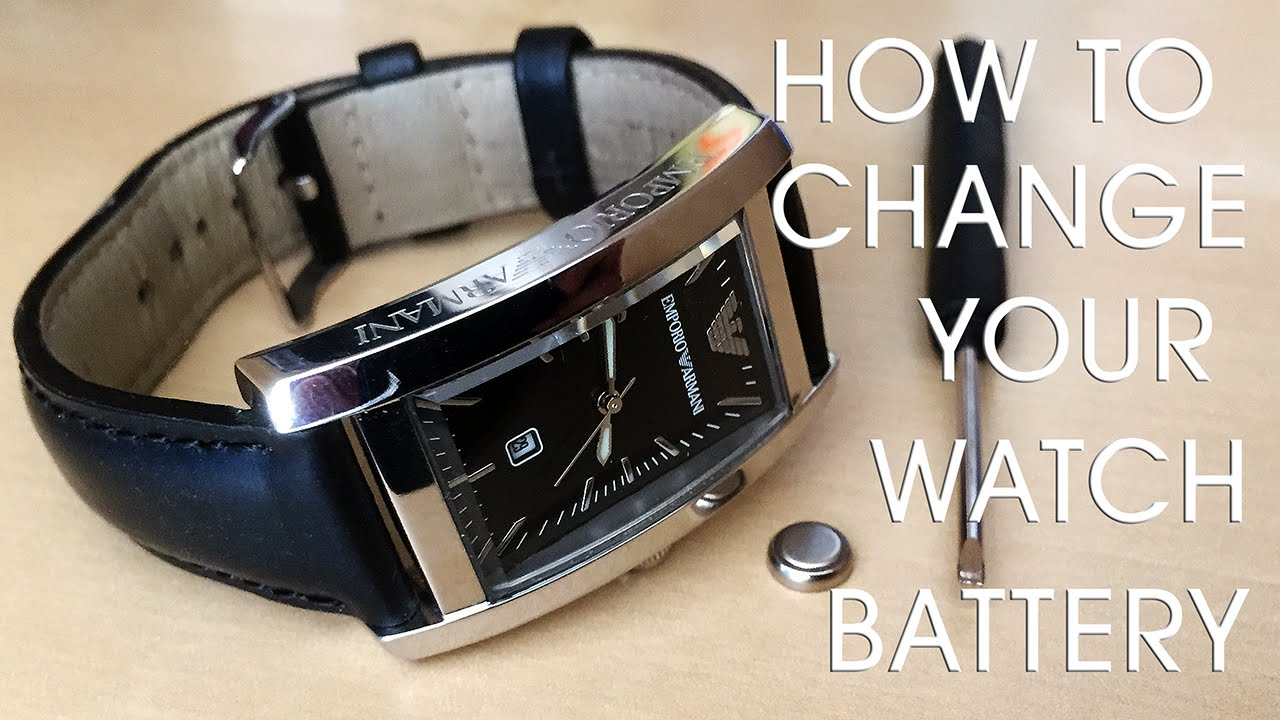 a643e2f0cfc How to change a watch battery - YouTube