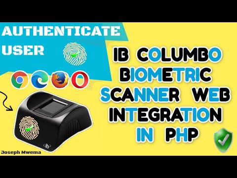 PHP Biometric Authentication Demo using Columbo Finger Scanner