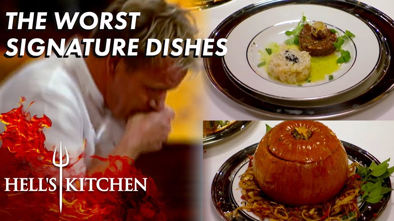 The Worst Signature Dishes In Hell S Kitchen Part One Youtube
