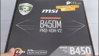 Unboxing MSI B450M PRO-VDH V2 Motherboard
