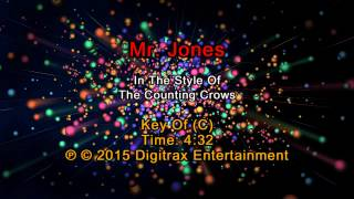 Counting Crows - Mr. Jones (Backing Track)