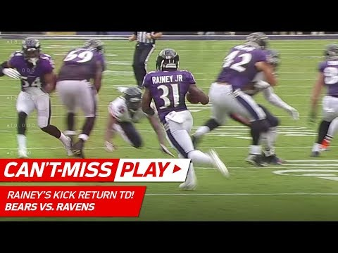Bobby Rainey Tumbles & Gets Up for Amazing Kick Return TD! | Can't-Miss Play | NFL Wk 6 Highlights
