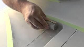 Curve Sanding Tape Marking