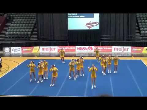 Hartland Varsity Cheer - States 2013 Round 3