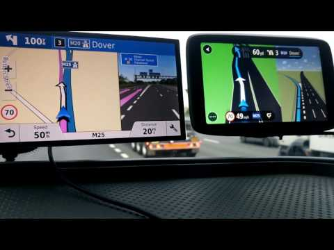 Garmin Drivesmart 61 Vs Tomtom GO 6200 On Motorway.