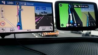 Garmin Drivesmart 61 vs Tomtom GO 6200 on Motorway.