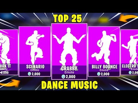 Top 25 Legendary Dance Music in Fortnite Battle Royale.!