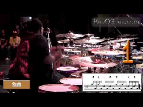 ★ Advanced Drum Lesson ★ Eric Moore Cross Sticking Skills
