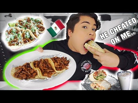 MUKBANG: ULTIMATE MEXICAN FOOD TACOS & CARNE ASADA BURRITOS