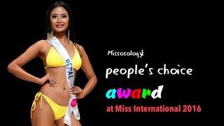 Barsha Lekhi wins People's Choice award at Miss International 2016, Tokyo
